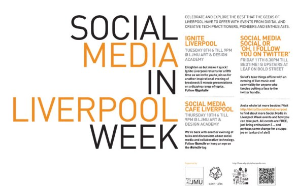 Download the Social Media in Liverpool Week Poster