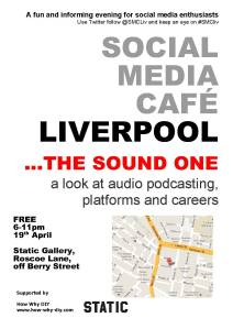 Social Media Cafe Liverpool poster