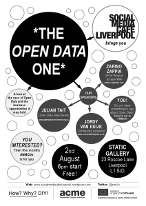 Open Data poster - Social media cafe Liverpool